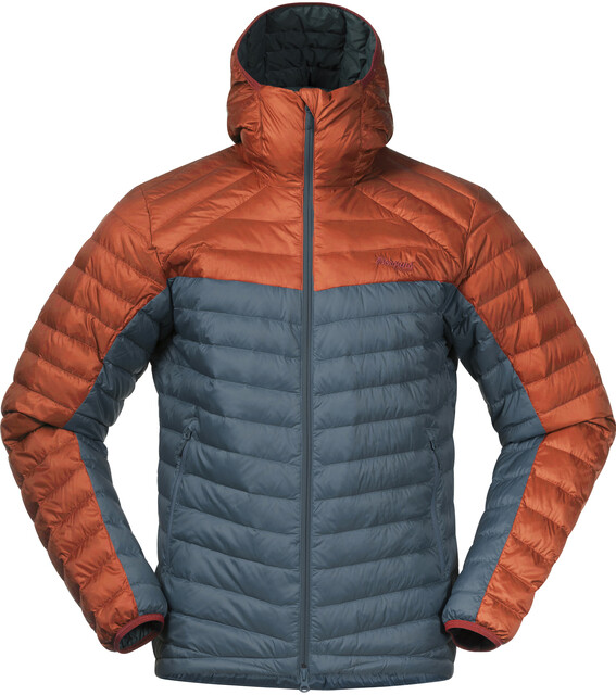 Bergans Røros Down Light Jacket with Hood Men forest frost